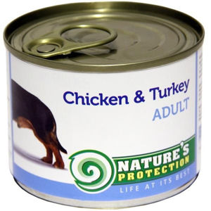 Nature's Protection konzerva Adult Chicken&Turkey 200 g