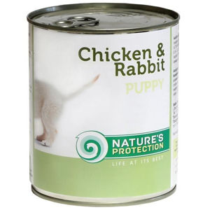 Nature's Protection konzerva Puppy Chicken&Rabbit 400 g