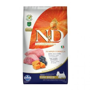 N&D Grain Free Pumpkin Adult Mini Lamb & Blueberry 2,5 kg