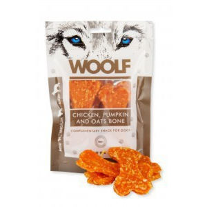 WOOLF large chicken, pumpkin, oats bone 100 g