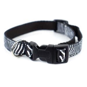 Vsepropejska Paw obojek pro psa  | 29 - 47 cm Barva: Černo-bílá
