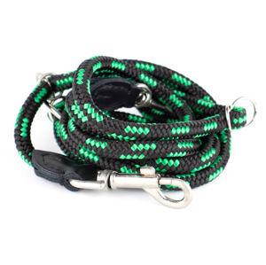 Vsepropejska Rope přepínací vodítko pro psa z lana   220 cm Barva: Černo-zelená, Šířka vodítka: 0,6 cm