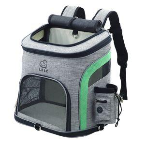 Vsepropejska Smart šedo-zelený batoh pro psa Dle váhy psa: do 6 kg