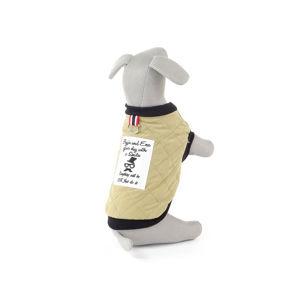 Vsepropejska Ara béžová prošitá bunda pro psa Délka zad psa: 25 cm, Obvod hrudníku: 32 – 38 cm