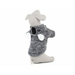 Vsepropejska Molly fleecová mikina pro psa s ušima Barva: Šedá, Délka zad psa: 35 cm, Obvod hrudníku: 48 - 56 cm