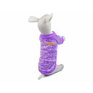 Vsepropejska Classic mikina pro psa Barva: Fialová, Délka zad psa: 18 cm, Obvod hrudníku: 20 - 26 cm
