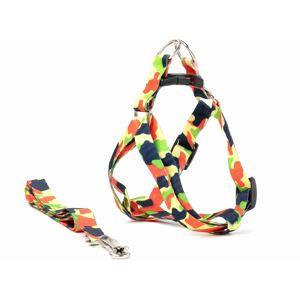 Vsepropejska Usual postroj pro psa s vodítkem | 23 – 43 cm Barva: Maskáčová, Obvod hrudníku: 23 - 37 cm