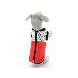 Pes-tex Bruno zimní bunda pro psa Barva: Červená, Délka zad psa: 24 cm, Obvod hrudníku: 18 - 29 cm
