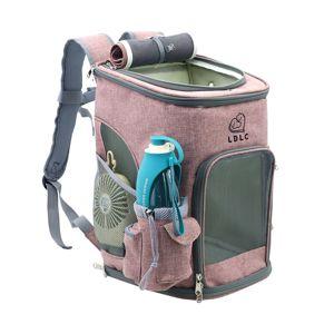 Vsepropejska Alley růžový luxusní batoh pro psa Dle váhy psa: do 6 kg