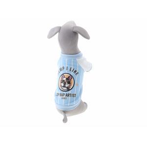 Vsepropejska Abby mikina pro psa s potiskem Barva: Modrá, Délka zad psa: 42 cm, Obvod hrudníku: 48 - 50 cm
