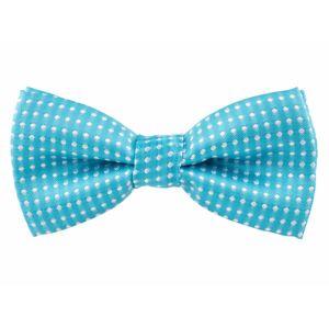 Vsepropejska Elegant zářivě-modrý motýlek pro psa s puntíky | 25 - 42 cm