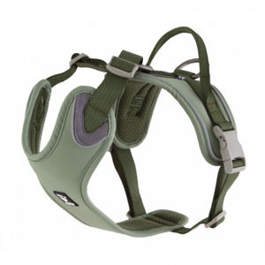 Postroj Hurtta Weekend Warrior ECO zelený 80-100 cm
